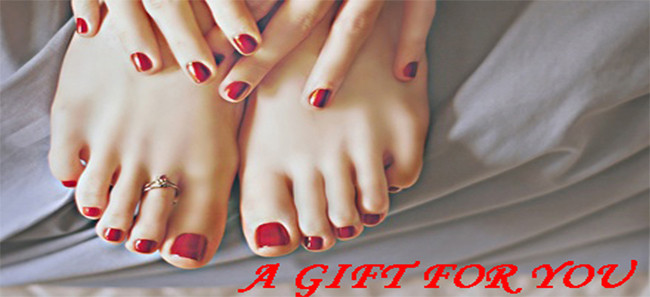 A gift for you - Red mani/pedi